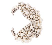 Armspange mit Perlen und Strassbesatz