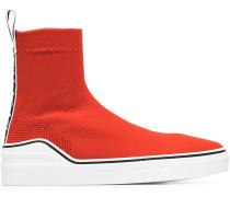 red George V sock sneakers