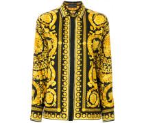 Seidenhemd mit barockem Print