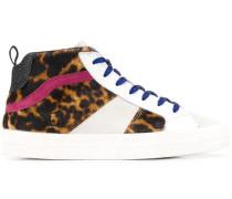 D.A.T.E. Sneakers mit Leoparden-Print
