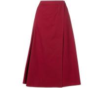 pleat detail A-line skirt