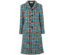 Tweed-Mantel aus Wolle