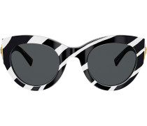 Sonnenbrille mit Zebra-Print