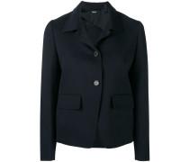 Cropped-Jacke mit kastigem Schnitt