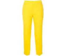 rear zip cropped trousers