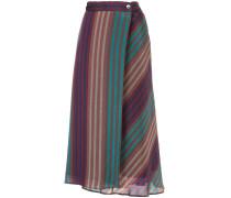 striped asymmetric long skirt