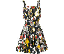 playing cards print dress