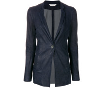 fitted longline blazer