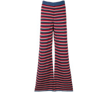 Ladybird knit flared trousers