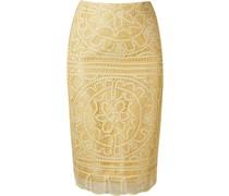 'renascença' lace pencil skirt