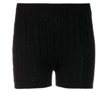 Shorts mit Zopfmuster