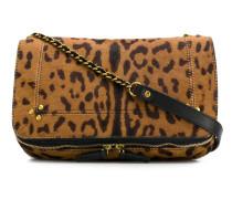 'Bob' Schultertasche mit Leopardenmuster