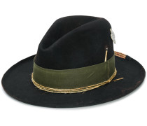 green ribbon and twine mid-brim hat