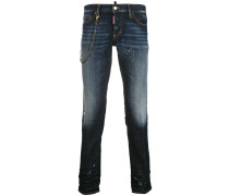 chain slim jeans