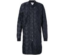 Texturierter Mantel mit Reißverschluss