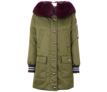 knitted cuffs parka coat
