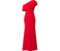 Drapierte One-Shoulder-Robe