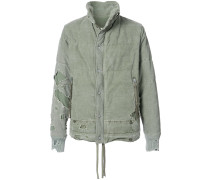 destroyed tent puffer jacket