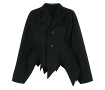 pointed hem oversized jacket