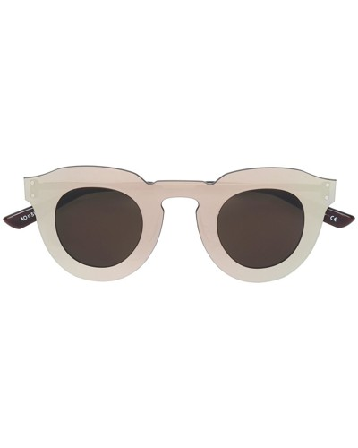 round thick frame sunglasses