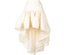 polka dot peplum skirt