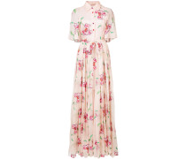floral embroidered shirt gown
