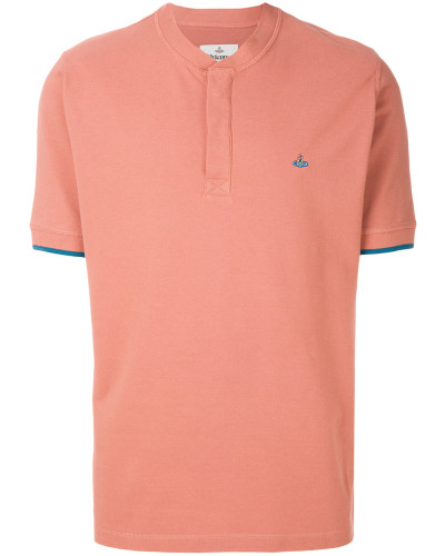 henley neck polo shirt