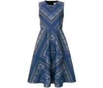 paisley print flared dress
