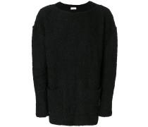 Oversized-Pullover mit U-Boot-Ausschnitt