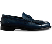 Kiltie Fringe Leather Loafers