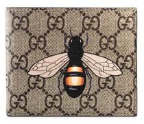 'GG Supreme' Portemonnaie mit Bienen-Prin