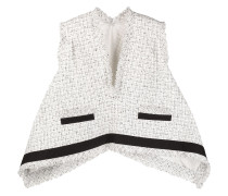 Asymmetrisches Tweed-Top