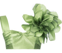 Cropped-Seidentop mit floralem Print
