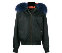 trimmed bomber jacket