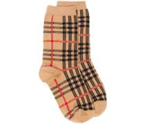 Socken mit Vintage-Check