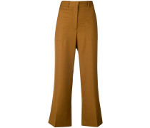 flared cropped tailored trousers
