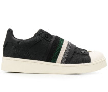 Sneakers mit Glitter-Riemen
