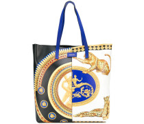 baroque print tote bag