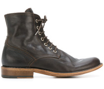 lace-up fitted boots