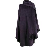 Poncho mit Schal