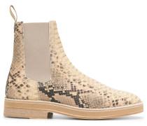 'Chelsea-Boots in Schlangenleder-Optik