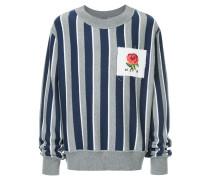 striped rose patch jumper