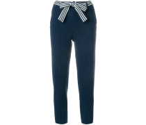 cropped belted trousers
