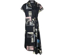 Asymmetrisches Patchwork-Kleid