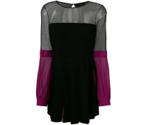 colour-block shift dress