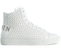 High-Top-Sneakers mit spitzen Nieten