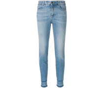 Skinny-Jeans mit Washed-Effekt