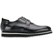 contrast-sole derby shoes