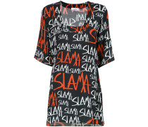 logo print shift dress