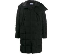 branded hood padded coat